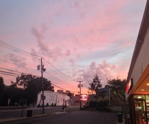 sky, pink, and grunge image