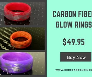 carbon fiber rings, carbon glow ring, and carbon ring products image