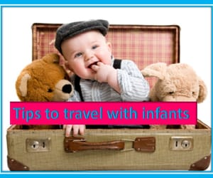 travel with kid, air travel kids, and stroller for child image