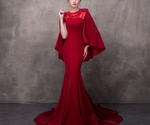 beading, evening dress, and girl image