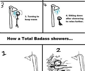 bad ass, badass, and showers image