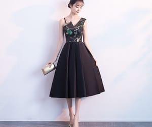 black dress, girl, and homecoming dress image