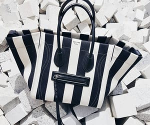 bags, black and white, and hand bag image