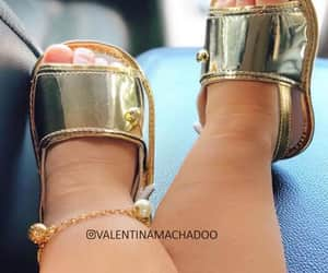 baby, gold, and shoes image