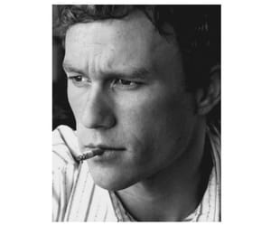 actor, black and white, and heath ledger image