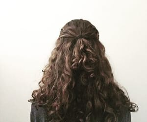 hair, half up, and hairstyle image