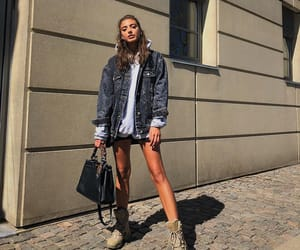 denim, jacket, and streetstyle image