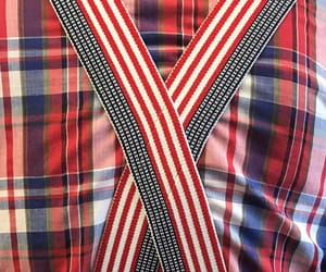 suspenders, flannel, and plaid image