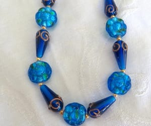 beaded necklace, vintage necklace, and murano glass beads image