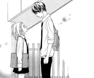 anime, couple, and monochrome image