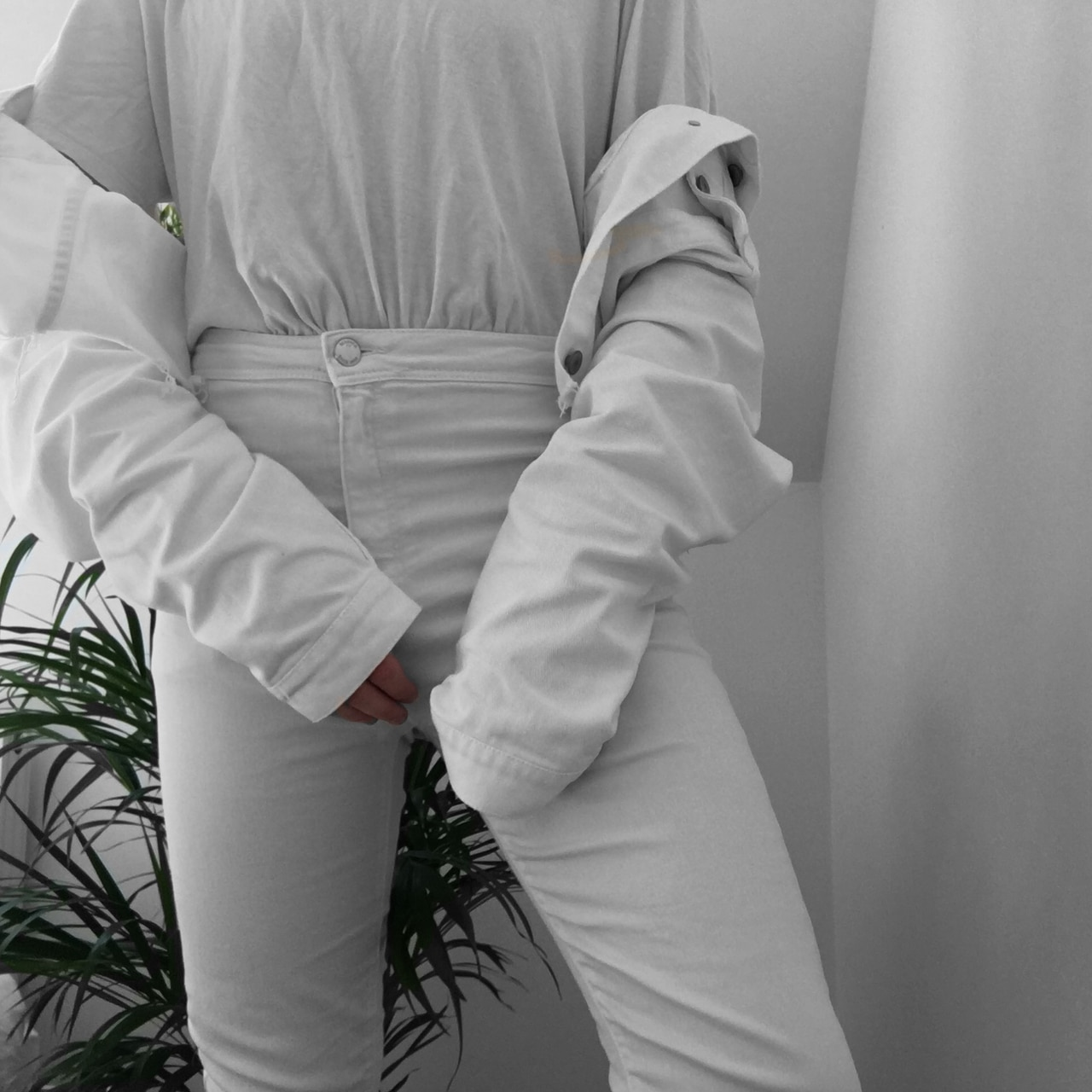 outfit, ootd, and white image