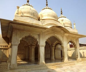 agra, india, and mosque image