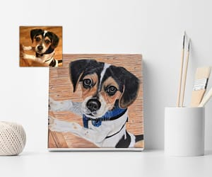 art, dogs, and etsy image
