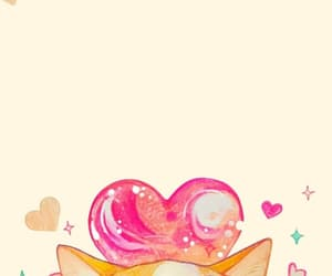 background, cat, and heart image