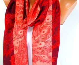 christmas, scarves, and womens image