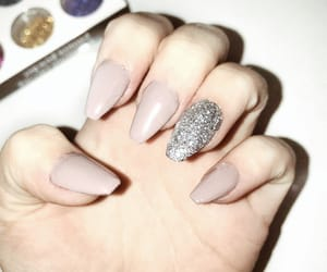 glitter, pink, and nailart image
