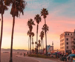 beach, california, and la image