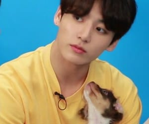 bts, jungkook, and puppy image