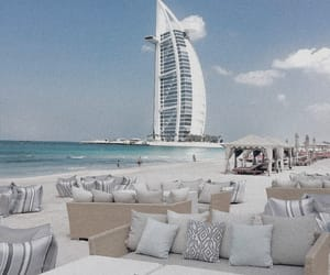 Dubai, beach, and travel image
