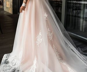 dress, wedding, and beautiful image