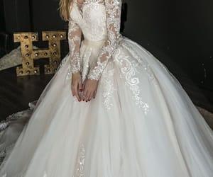 wedding, beautiful, and dress image