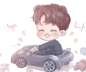 baby, car, and exo image