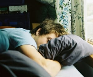 boy, morning, and pillow image