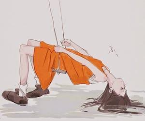 art, drawing, and orange image