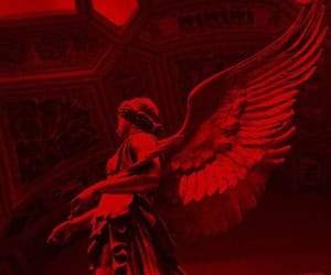 red, angel, and aesthetic image