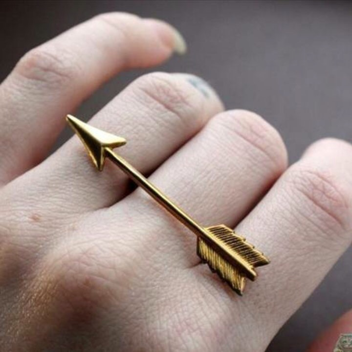 aesthetic, ring, and arrow image