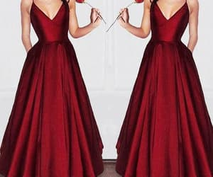 burgundy prom dress image