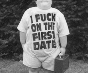 black and white, funny, and kid image