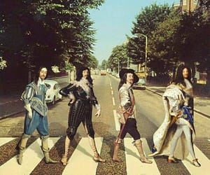 abbey road, art, and beatles image