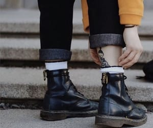 black, boots, and socks image