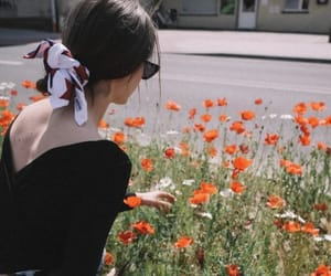 flowers, spring, and girl image