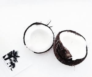 white, coconut, and food image