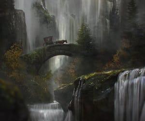 art and waterfall image