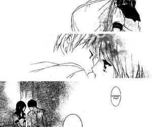 black&white, kiss, and manga girl image