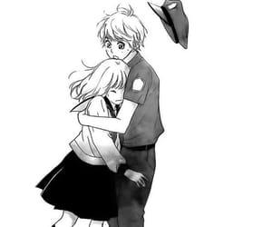 black&white, manga girl, and monochrome image