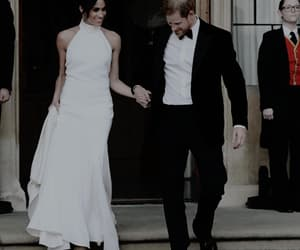 couple, meghan markle, and british royal family image