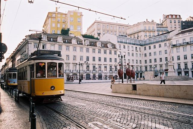 city, lisbon, and vintage image