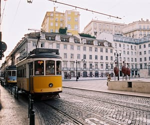 city, lisbon, and vintage image