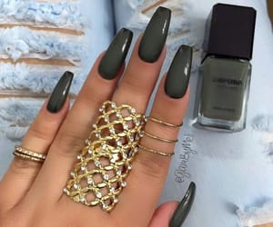 green, nails, and style image