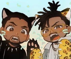 africa, black panther, and chibi image