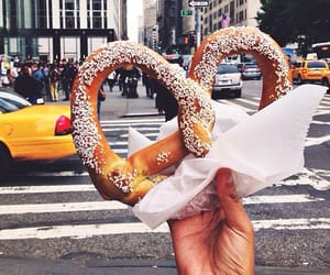 food, pretzel, and yummy image