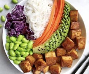 avocado, fitness, and vegan image