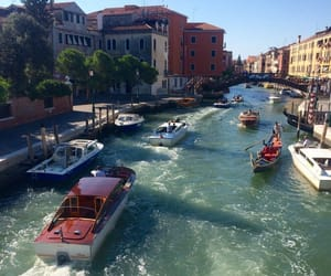 boats, venice, and water image