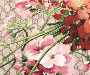 background, flower print, and flowers image