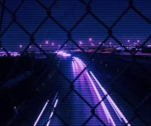light, purple, and night image