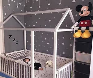 baby, bedroom, and mickey image
